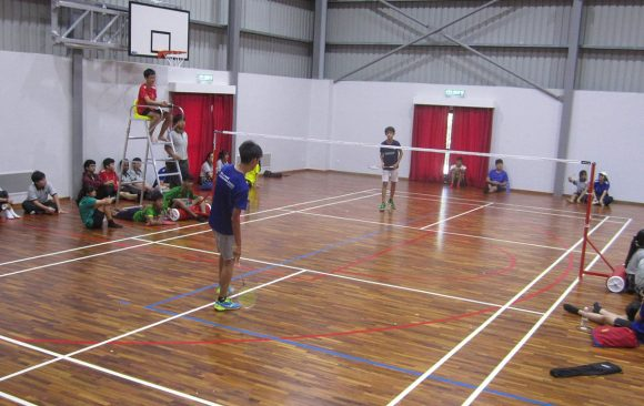 Badminton Competition held at the new Sports Complex